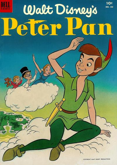 Cover for Four Color (Dell, 1942 series) #442 - Walt Disney's Peter Pan