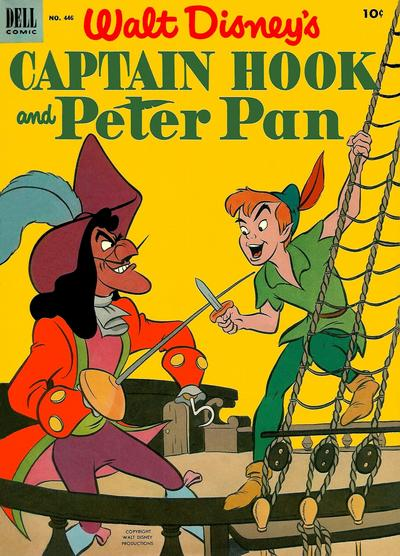 Cover for Four Color (Dell, 1942 series) #446 - Walt Disney's Peter Pan and Captain Hook