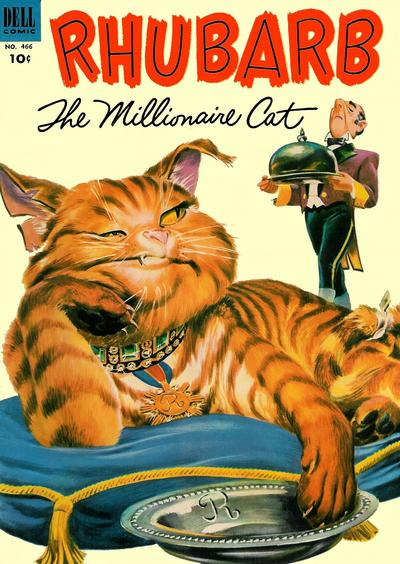 Cover for Four Color (Dell, 1942 series) #466 - Rhubarb the Millionaire Cat