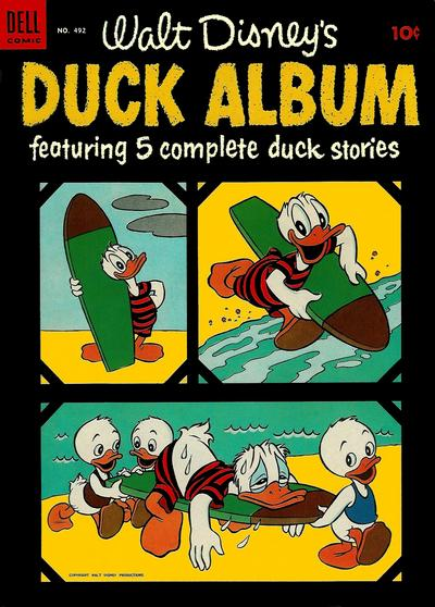 Cover for Four Color (Dell, 1942 series) #492 - Walt Disney's Duck Album