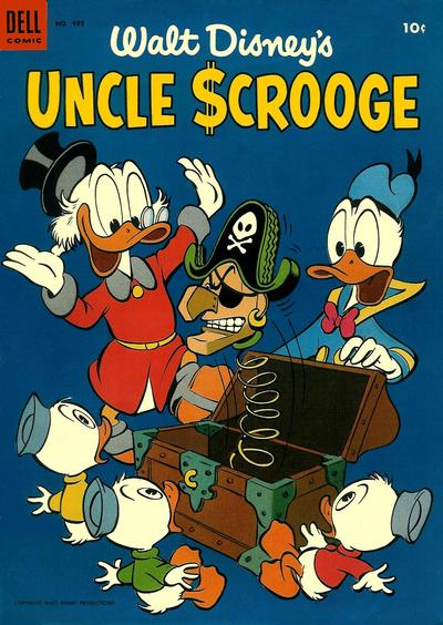 Cover for Four Color (Dell, 1942 series) #495 - Walt Disney's Uncle Scrooge
