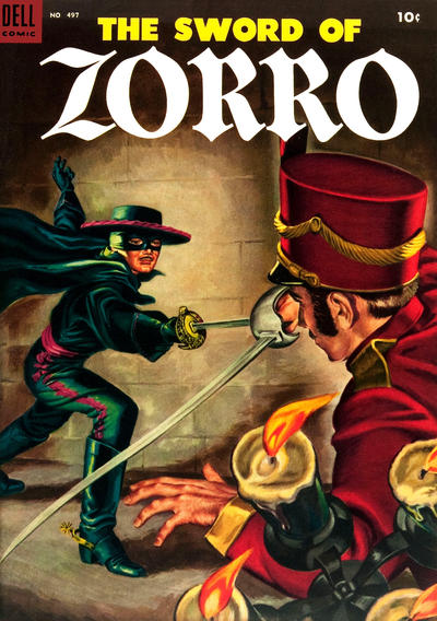 Cover for Four Color (Dell, 1942 series) #497 - The Sword of Zorro
