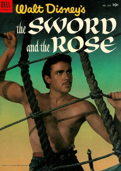 Cover for Four Color (Dell, 1942 series) #505 - Walt Disney's The Sword and the Rose