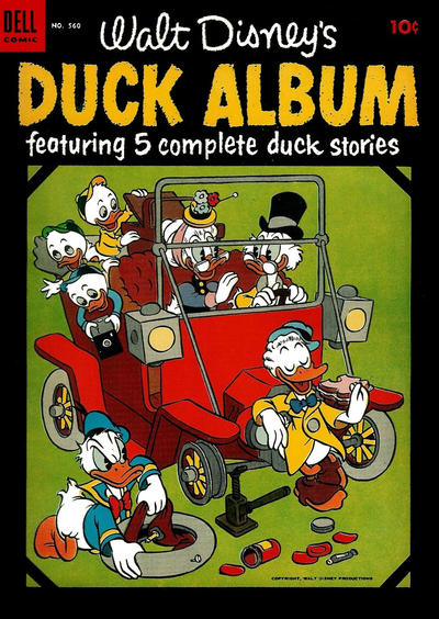 Cover for Four Color (Dell, 1942 series) #560 - Walt Disney's Duck Album