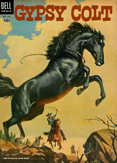Cover for Four Color (Dell, 1942 series) #568 - M-G-M's Gypsy Colt