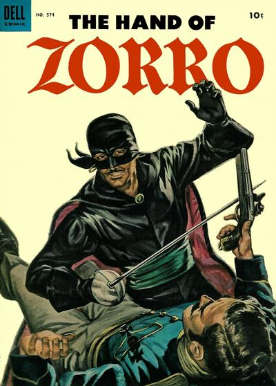 Cover for Four Color (Dell, 1942 series) #574 - The Hand of Zorro