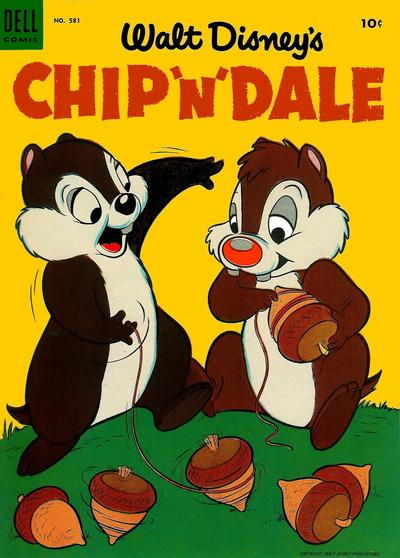 Cover for Four Color (Dell, 1942 series) #581 - Walt Disney's Chip 'n' Dale
