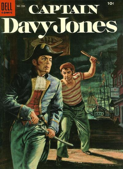 Cover for Four Color (Dell, 1942 series) #598 - Captain Davy Jones
