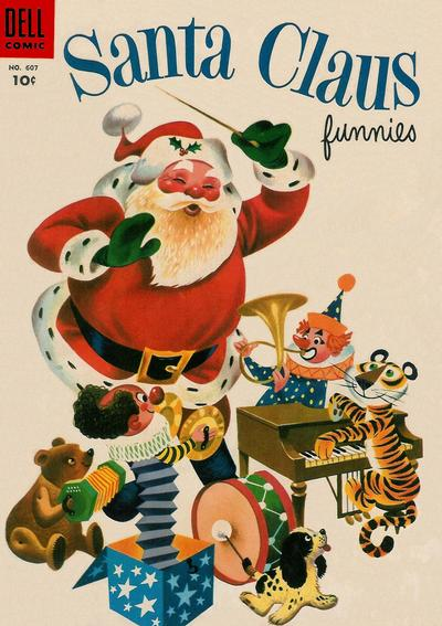 Cover for Four Color (Dell, 1942 series) #607 - Santa Claus Funnies