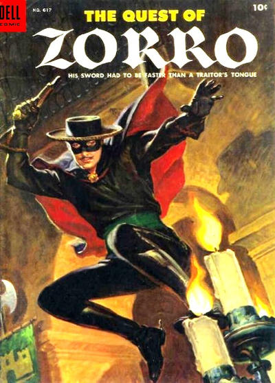 Cover for Four Color (Dell, 1942 series) #617 - The Quest of Zorro