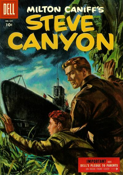 Cover for Four Color (Dell, 1942 series) #641 - Milton Caniff's Steve Canyon