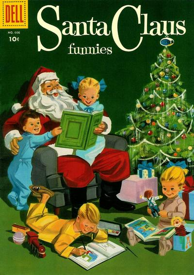 Cover for Four Color (Dell, 1942 series) #666 - Santa Claus Funnies