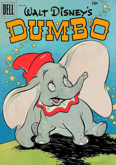Cover for Four Color (Dell, 1942 series) #668 - Walt Disney's Dumbo [Second Printing]