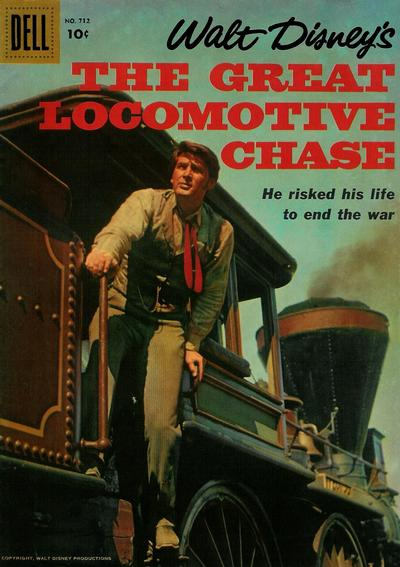 Cover for Four Color (Dell, 1942 series) #712 - Walt Disney's The Great Locomotive Chase