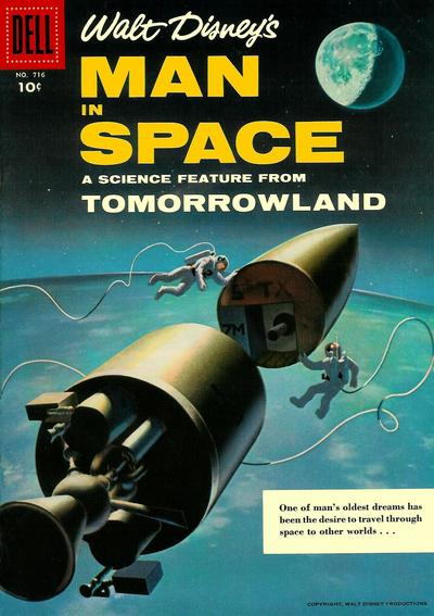Cover for Four Color (Dell, 1942 series) #716 - Walt Disney's Man in Space [10cent Cover]