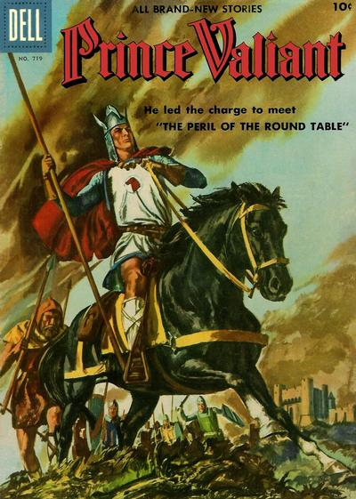 Cover for Four Color (Dell, 1942 series) #719 - Prince Valiant [Prince Valiant pin-up back cover]