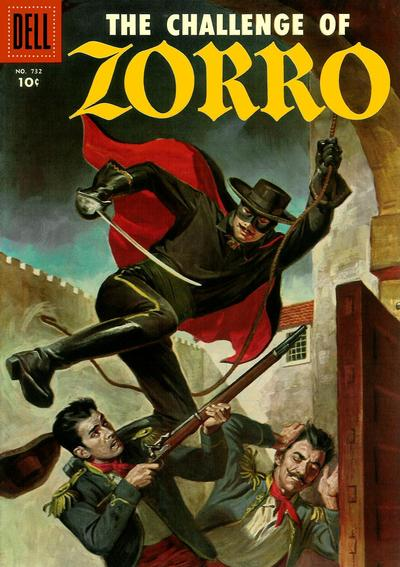 Cover for Four Color (Dell, 1942 series) #732 - The Challenge of Zorro