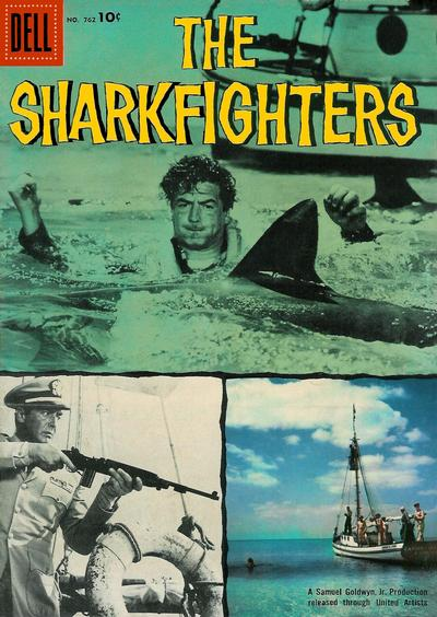 Cover for Four Color (Dell, 1942 series) #762 - The Sharkfighters