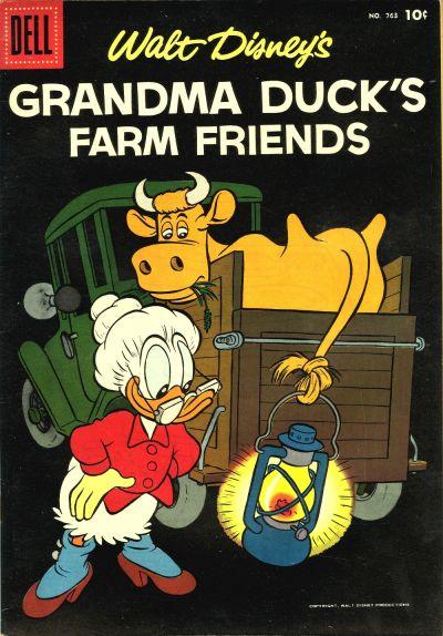 Cover for Four Color (Dell, 1942 series) #763 - Walt Disney's Grandma Duck's Farm Friends