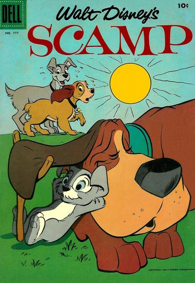 Cover for Four Color (Dell, 1942 series) #777 - Walt Disney's Scamp
