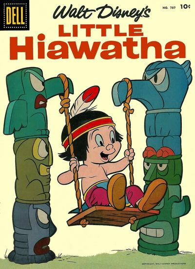 Cover for Four Color (Dell, 1942 series) #787 - Walt Disney's Little Hiawatha [15¢]