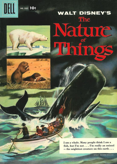 Cover for Four Color (Dell, 1942 series) #842 - Walt Disney's The Nature of Things [15¢]