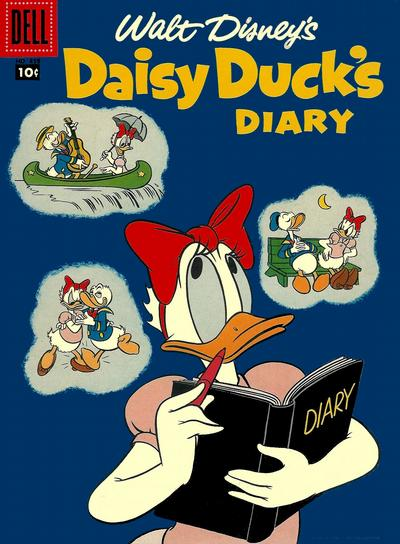 Cover for Four Color (Dell, 1942 series) #858 - Walt Disney's Daisy Duck's Diary [15¢]