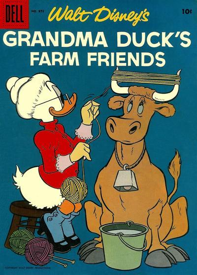 Cover for Four Color (Dell, 1942 series) #873 - Walt Disney's Grandma Duck's Farm Friends [15¢]