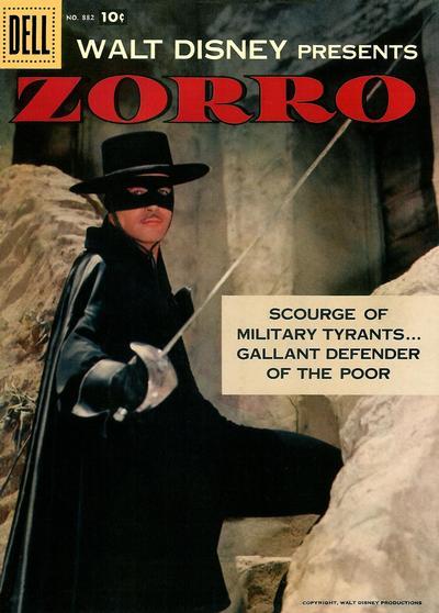 Cover for Four Color (Dell, 1942 series) #882 - Walt Disney Presents Zorro