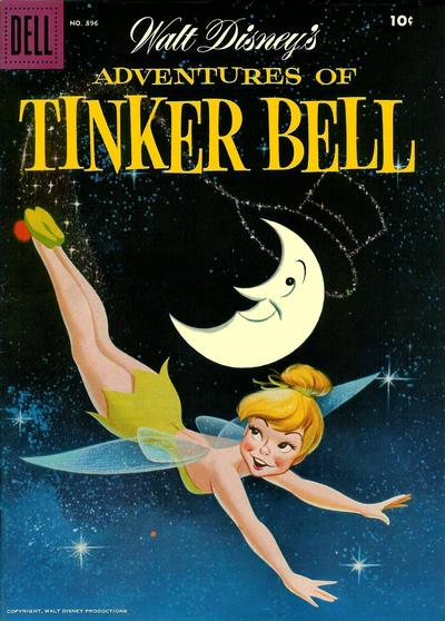 Cover for Four Color (Dell, 1942 series) #896 - Walt Disney's Adventures of Tinker Bell