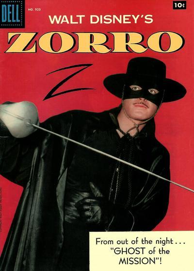 Cover for Four Color (Dell, 1942 series) #920 - Walt Disney's Zorro