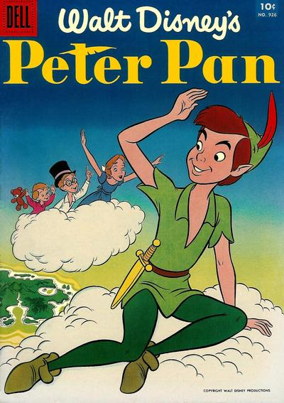 Cover for Four Color (Dell, 1942 series) #926 - Walt Disney's Peter Pan