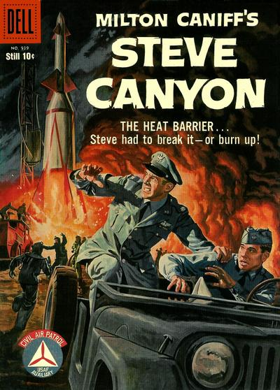 Cover for Four Color (Dell, 1942 series) #939 - Milton Caniff's Steve Canyon