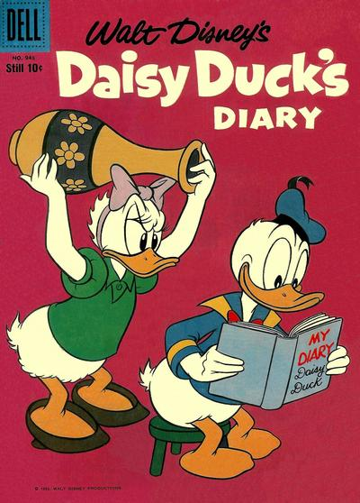 Cover for Four Color (Dell, 1942 series) #948 - Walt Disney's Daisy Duck's Diary
