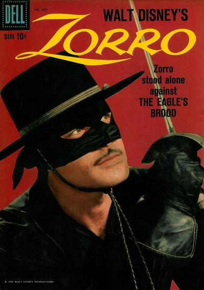 Cover for Four Color (Dell, 1942 series) #960 - Walt Disney's Zorro
