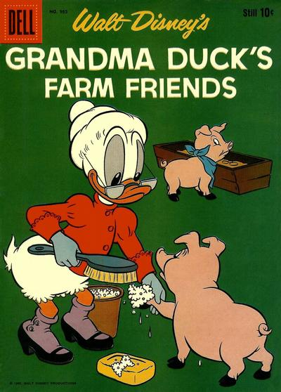 Cover for Four Color (Dell, 1942 series) #965 - Walt Disney's Grandma Duck's Farm Friends