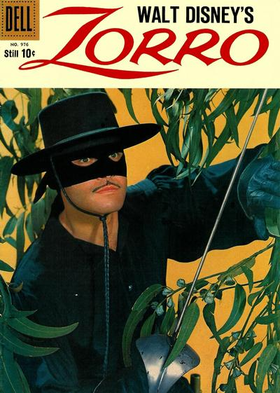 Cover for Four Color (Dell, 1942 series) #976 - Walt Disney's Zorro