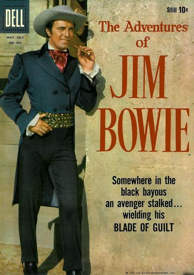 Cover for Four Color (Dell, 1942 series) #993 - The Adventures of Jim Bowie