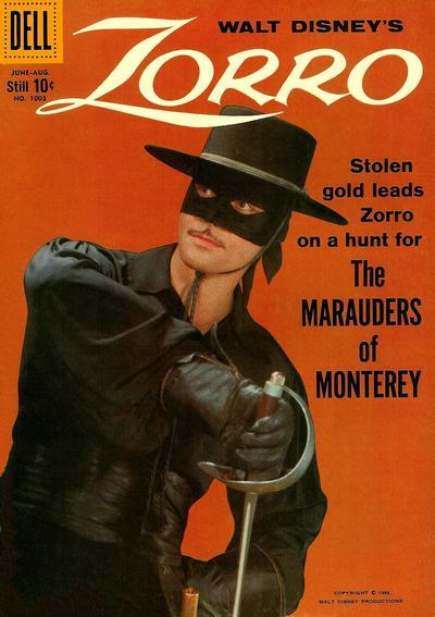 Cover for Four Color (Dell, 1942 series) #1003 - Walt Disney's Zorro