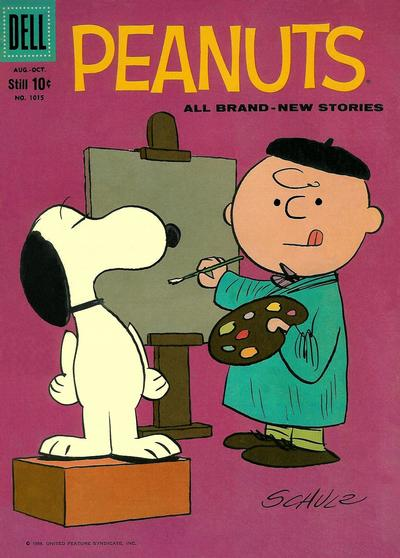 Cover for Four Color (Dell, 1942 series) #1015 - Peanuts