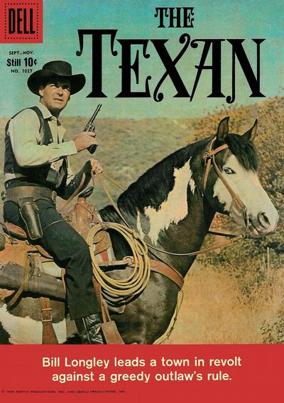 Cover for Four Color (Dell, 1942 series) #1027 - The Texan