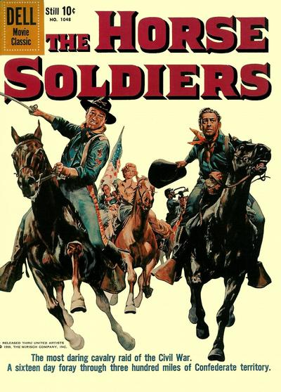 Cover for Four Color (Dell, 1942 series) #1048 - The Horse Soldiers