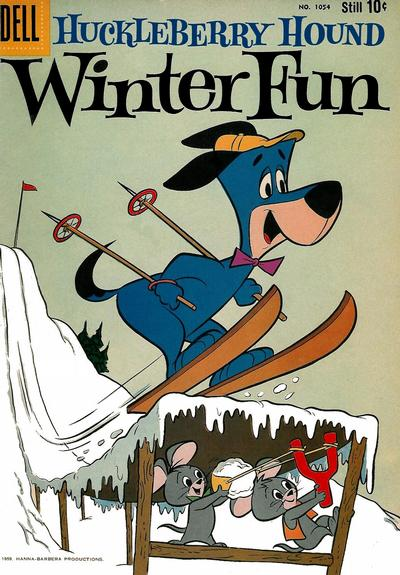 Cover for Four Color (Dell, 1942 series) #1054 - Huckleberry Hound Winter Fun