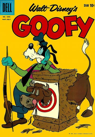 Cover for Four Color (Dell, 1942 series) #1094 - Walt Disney's Goofy