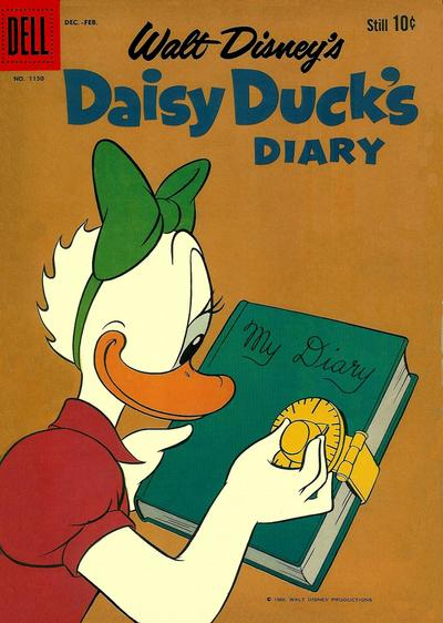 Cover for Four Color (Dell, 1942 series) #1150 - Walt Disney's Daisy Duck's Diary