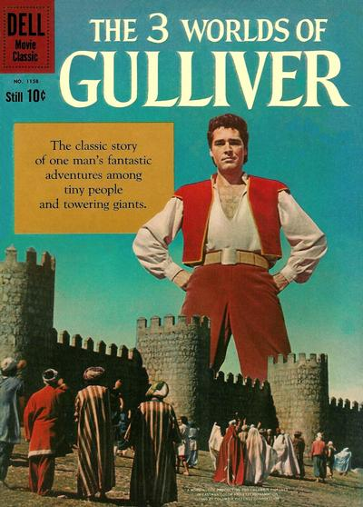 Cover for Four Color (Dell, 1942 series) #1158 - The 3 Worlds of Gulliver