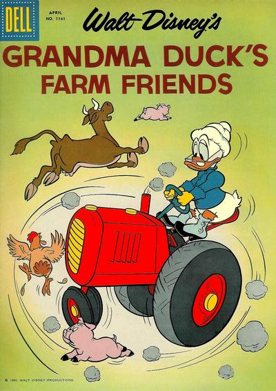 Cover for Four Color (Dell, 1942 series) #1161 - Walt Disney's Grandma Duck's Farm Friends