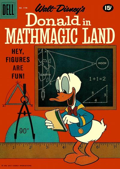 Cover for Four Color (Dell, 1942 series) #1198 - Walt Disney's Donald in Mathmagic Land