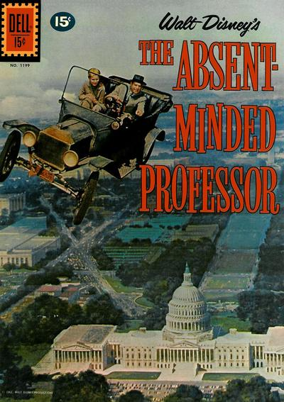 Cover for Four Color (Dell, 1942 series) #1199 - Walt Disney's The Absent Minded Professor