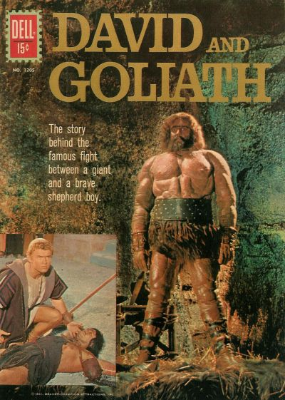 Cover for Four Color (Dell, 1942 series) #1205 - David and Goliath